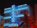 .., Florida, Miami Beach - Ocean Drive - Colony by night