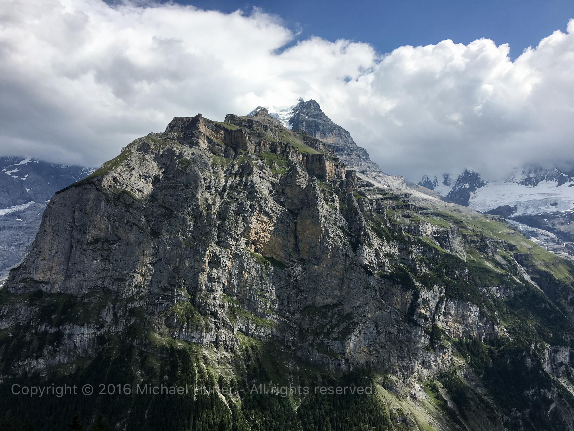 17.08.2016, Bärentrek - Von Mürren nach Kandersteg, Blick in Richtung Jungfrau