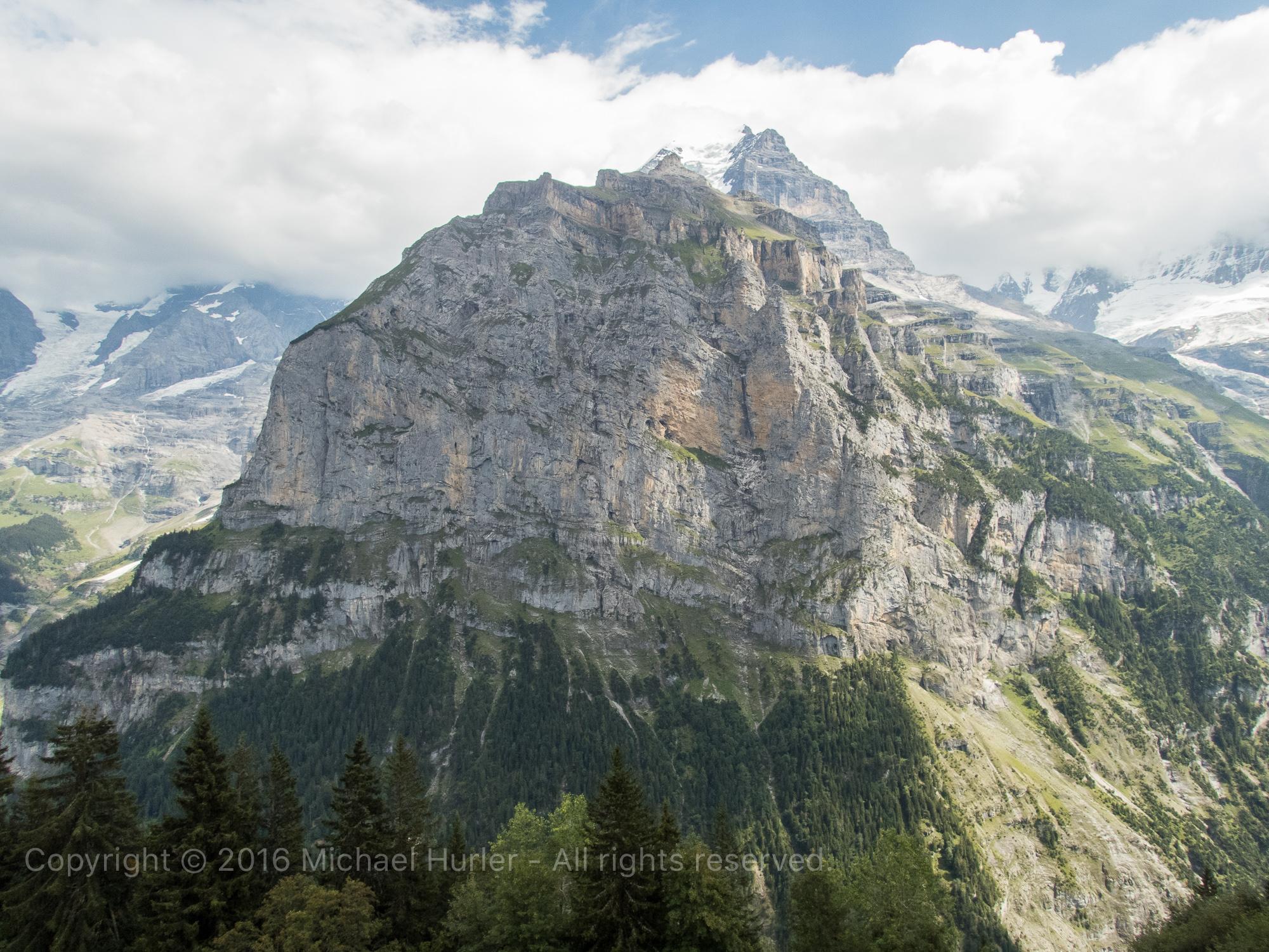 17.08.2016, Bärentrek - Von Mürren nach Kandersteg, Der Schwarzmönch von Mürren aus