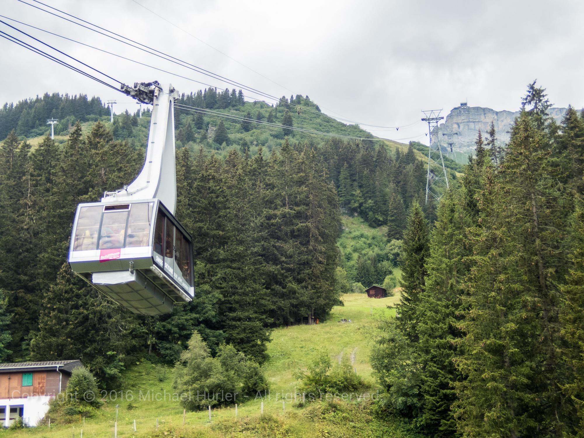 17.08.2016, Bärentrek - Von Mürren nach Kandersteg, In Mürren