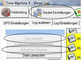 Time Machine X - Daten aus GPS-Logger auslesen