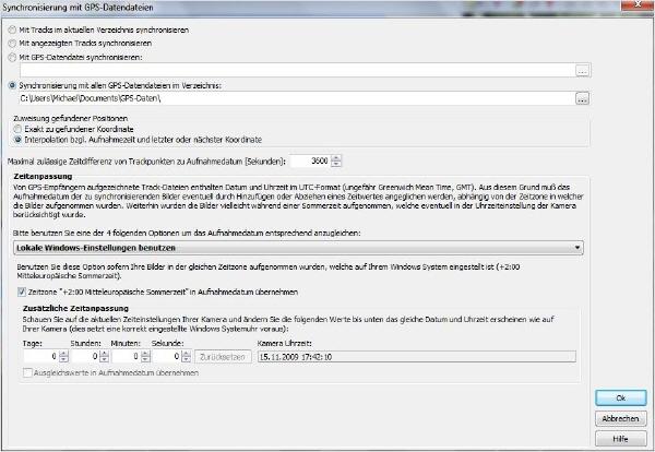 Time Machine X - GPS-Daten & Bilder synchronisieren