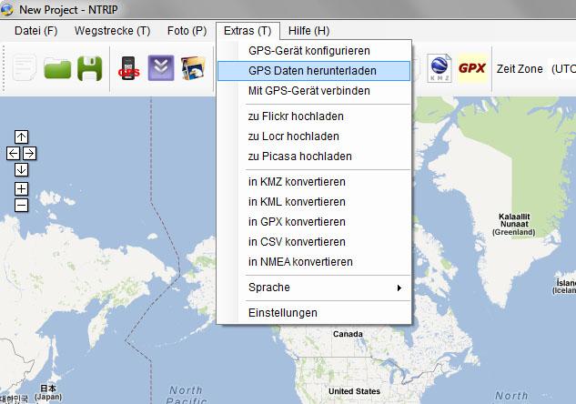 nTrip - GPS Daten herunterladen