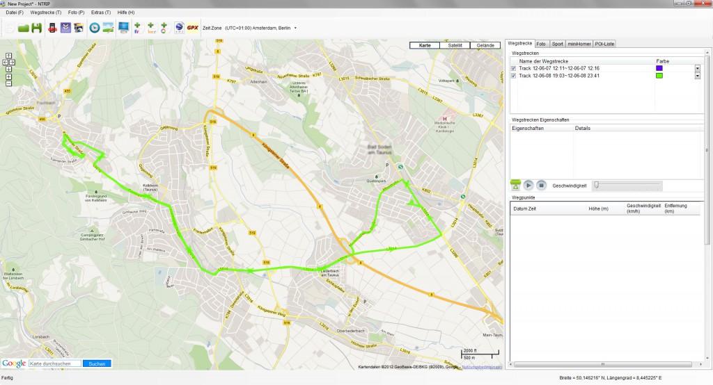 nTrip - Track Daten sind geladen