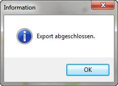 nTrip - Export abgeschlossen