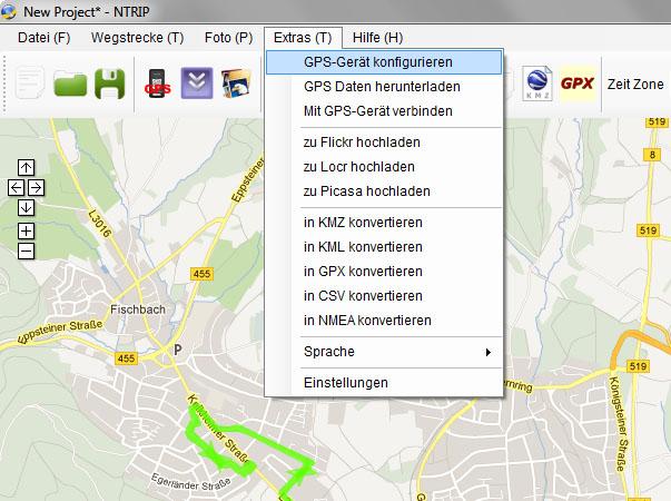 nTrip - GPS Daten löschen