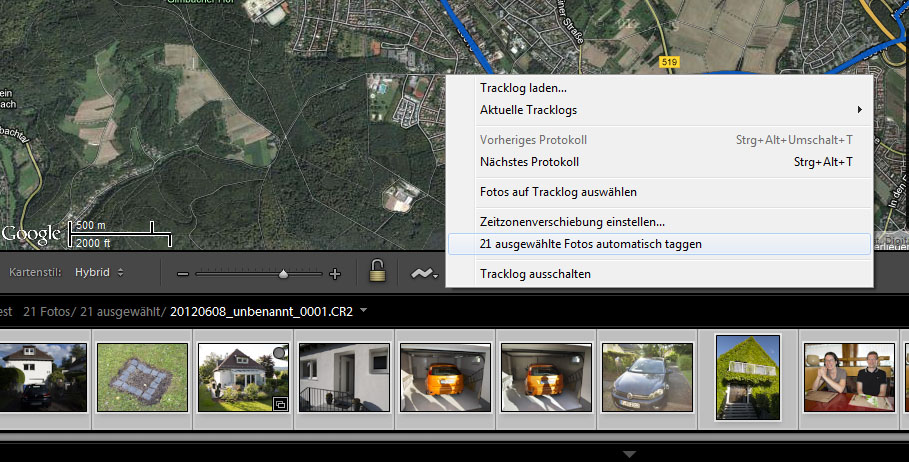 Lightroom - Geotagging starten